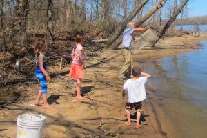 Big Papa Pearl fishing with the grandkids