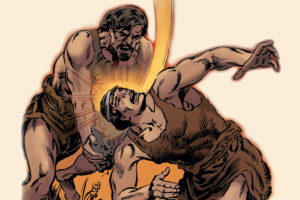 Cain and Abel illustration from the Good and Evil graphic novel comic book