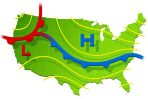 US Weather Map illustration